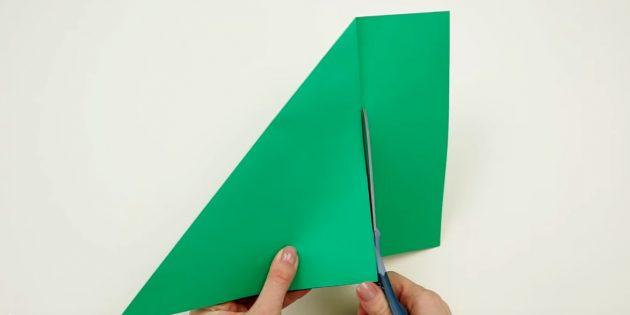 ёлка своими руками: вырежьте квадрат