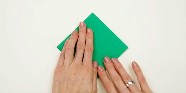ёлка своими руками: согните бумагу
