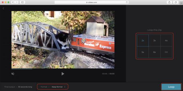 зациклить видео онлайн: выберите количество повторов