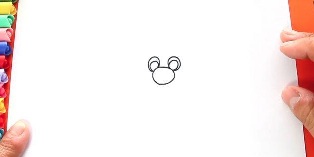 как нарисовать санта клауса: нарисуйте нос и глаза