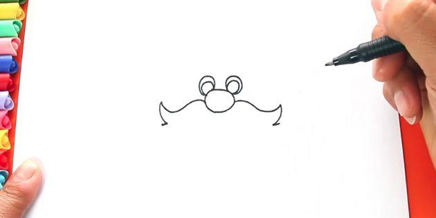 как нарисовать санта клауса: начните рисовать усы