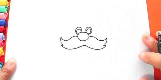 как нарисовать санта клауса: дорисуйте усы