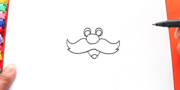как нарисовать санта клауса: добавьте рот