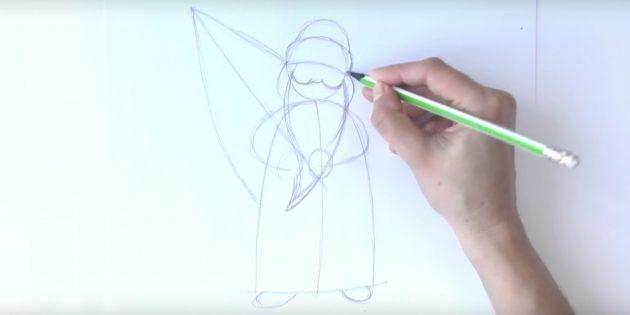 как нарисовать деда мороза поэтапно: добавьте бороду, нос и щёки