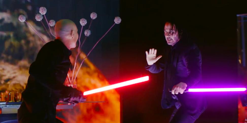 Видео дня: «Джон Уик 3», но со световыми мечами вместо обычных