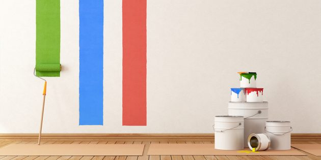 Ремонт зимой: окраска стен