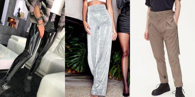 в чём встречать новый 2020 год: брюки или леггинсы с высокой талией