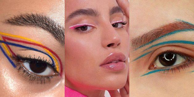 макияж на новый год: графическая подводка для глаз