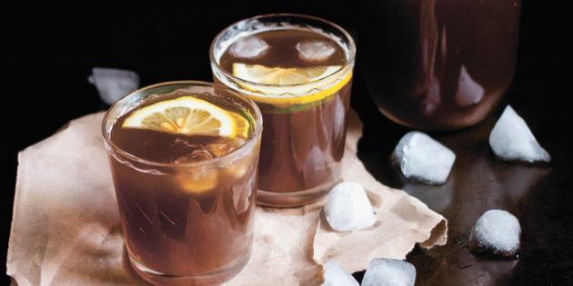 Бодрящий кофейный лимонад
