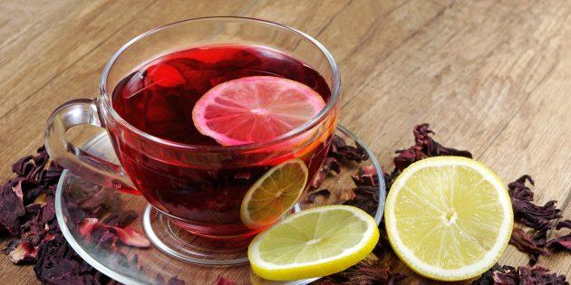 Цитрусовый чай на основе каркаде