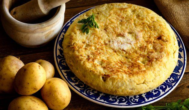 Испанская тортилья из картофеля и яиц