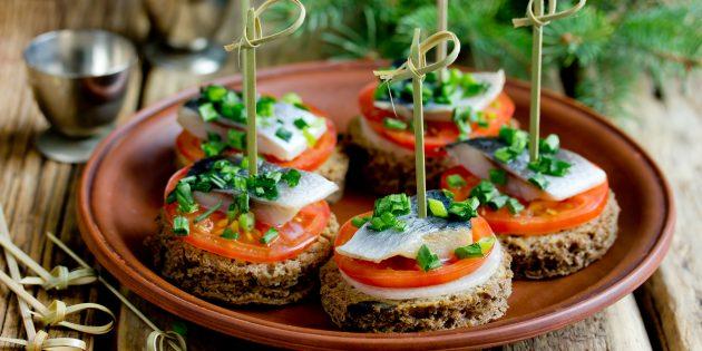 рецепты бутербродов на праздничный стол