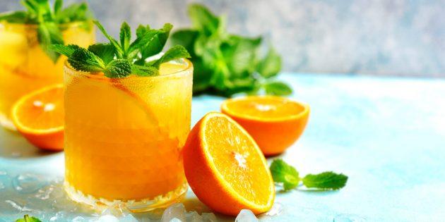 Безалкогольный цитрусовый коктейль с мятой