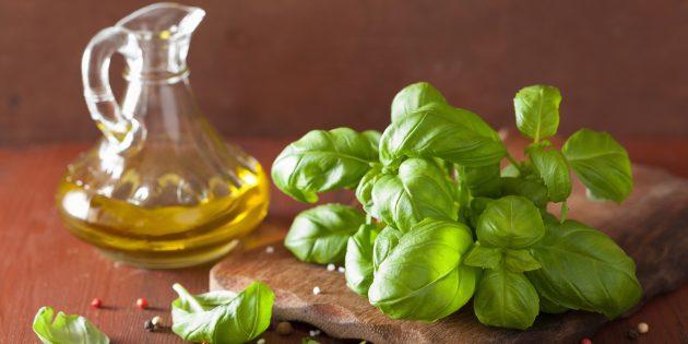 Оливковое масло с базиликом