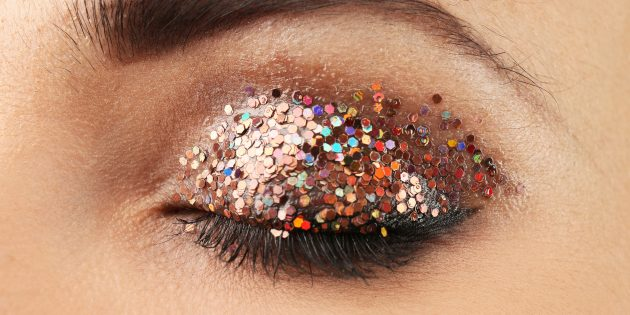 Модный макияж: глиттер