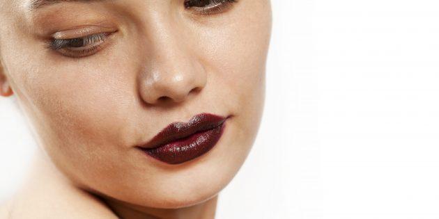 Модный макиях — 2020: тёмная помада