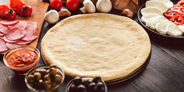 Моментальное тесто для пиццы на йогурте