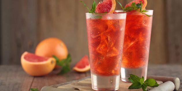 Безалкогольный коктейль с грейпфрутом и эспрессо