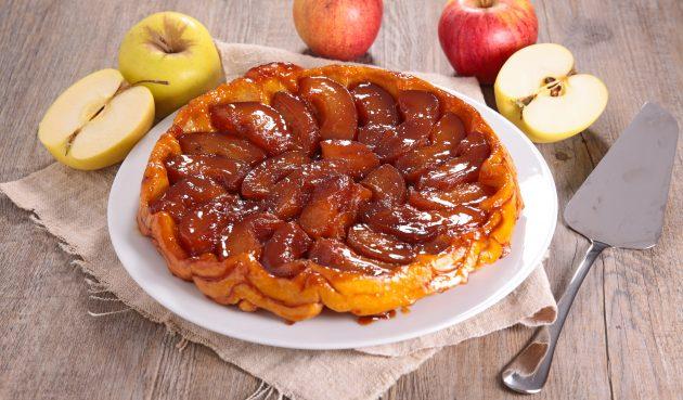 Простейший тарт татен с яблоками
