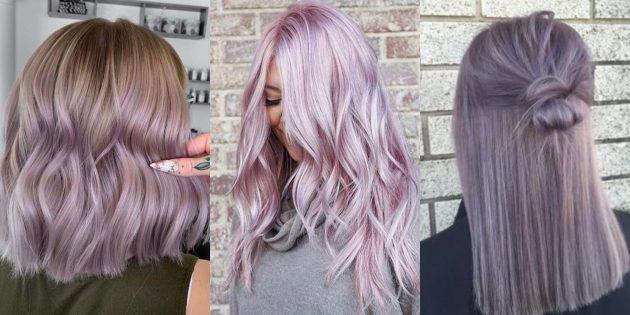 модные цвета волос: сирень (она же — лаванда)