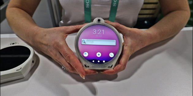 круглый смартфон Cyrcle Pphone