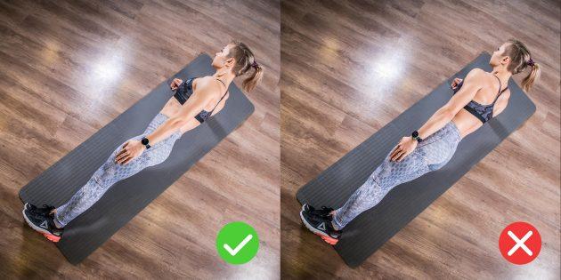 Боковая планка: следите за выравниванием тела во фронтальной плоскости