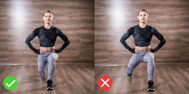 Техника выпадов: не расставляйте ноги широко