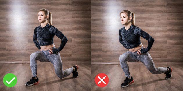 Техника выпадов: не отрывайте пятку опорной ноги от пола