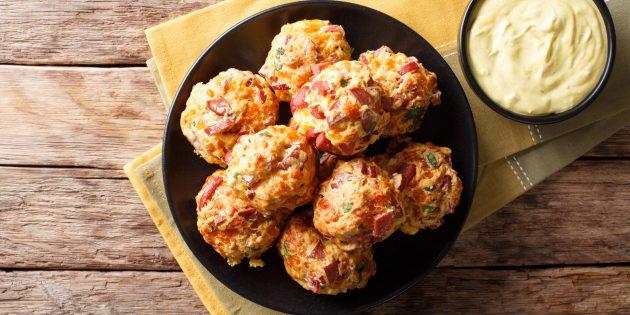 Вкусные закуски на праздничный стол: Мясные шарики с сыром