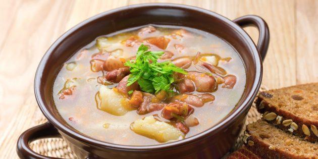 Фасолевый суп со свининой: простой рецепт