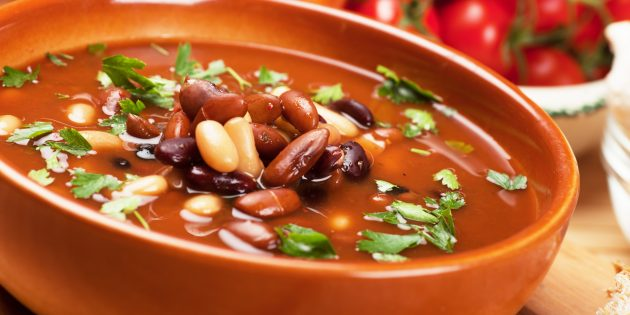 Как приготовить фасолевый суп с рисом
