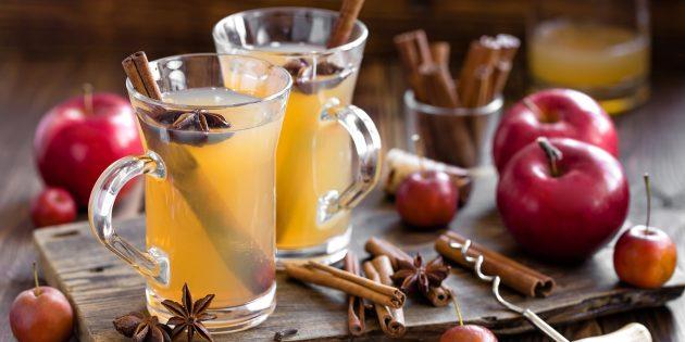 Безалкогольный глинтвейн из яблочного сока