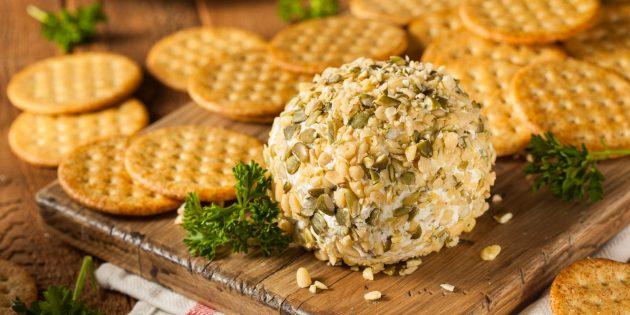Простые закуски на праздничный стол: Сырные шары