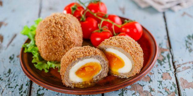 Вкусные закуски на праздничный стол: Перепелиные яйца по-шотландски