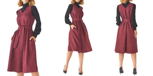 Бордовое платье Alina Assi