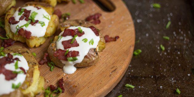 Запечённый картофель с хрустящей корочкой