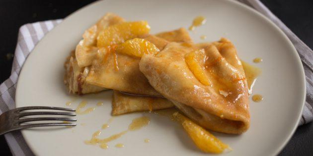 Классические французские блинчики в апельсиновом сиропе