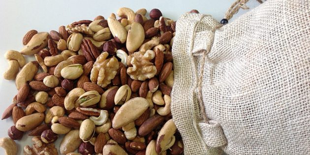 В каких продуктах содержится магний: орехи