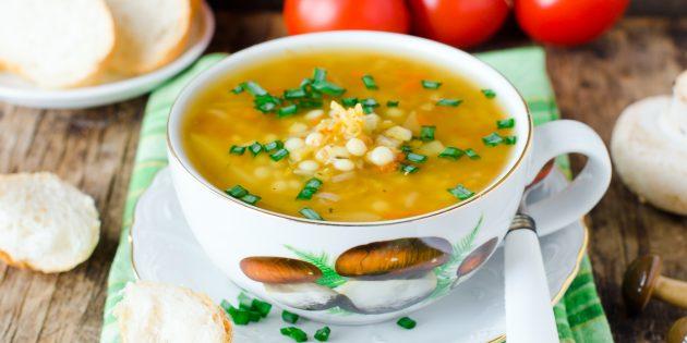 Суп с фасолью и капустой: простой рецепт