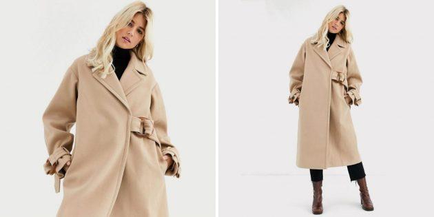 Пальто с застёжкой-пряжкой Asos Design