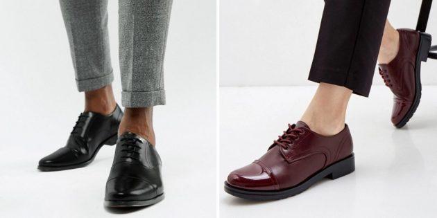 Классическая обувь: оксфорды
