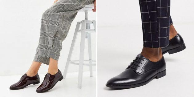 Классическая обувь: дерби