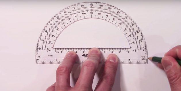 Как нарисовать звезду: обведите транспортир