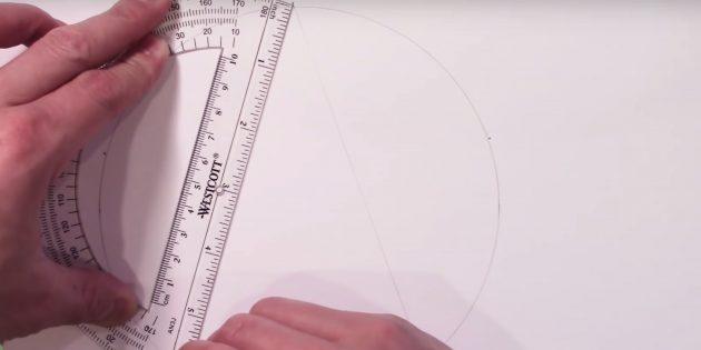 Как нарисовать звезду: нарисуйте одну вершину