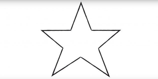 Как нарисовать звезду из угла
