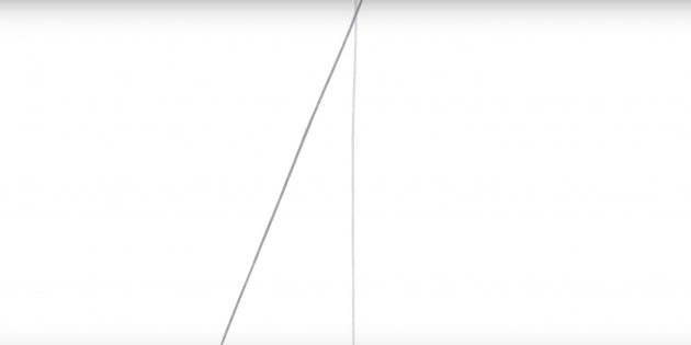 Как нарисовать пятиконечную звезду: добавьте линию под углом