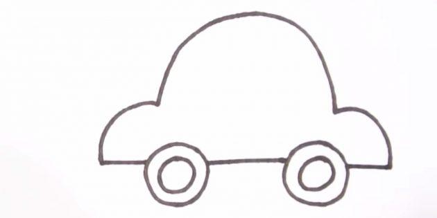Как нарисовать машину: дорисуйте кузов