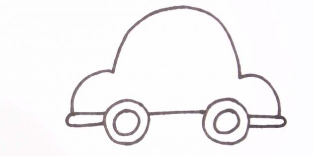 Как нарисовать машину: дорисуйте низ машины