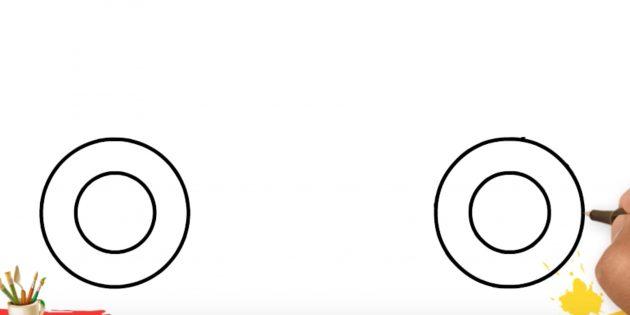 Как нарисовать грузовик: изобразите колёса