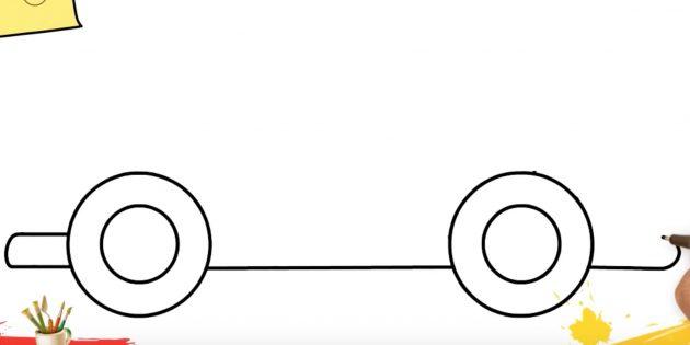 Как нарисовать грузовик: дорисуйте низ